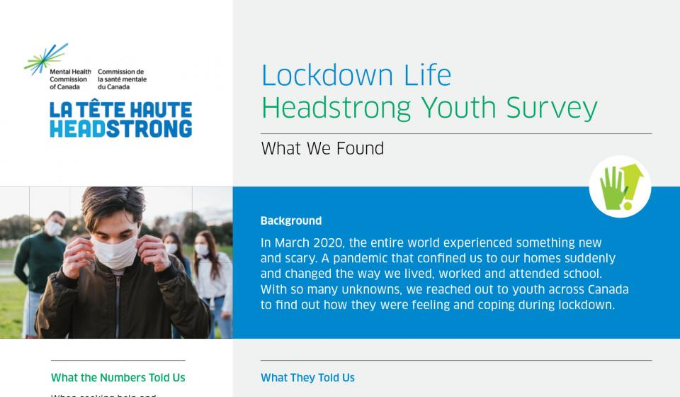 Lockdown Life. Youth Survey Slide 1