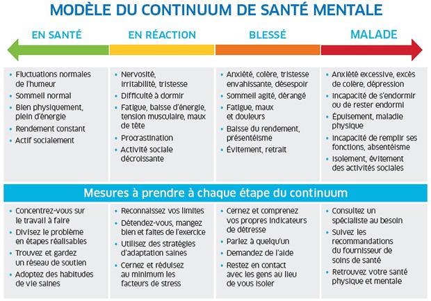 Figure 1. Continuum de la santé mentale